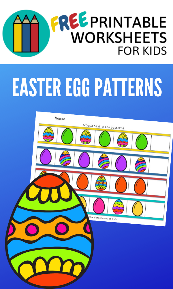 Easter Egg Patterns | Free Printable Worksheets For Kids | A colorful Easter activity to teach early math skill of recognizing patterns