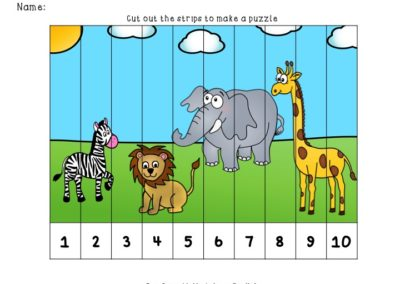 picture of strip puzzle from zoo animal puzzle printable