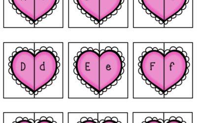 Valentines Alphabet Match