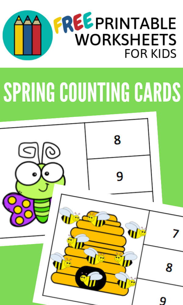 Spring Counting Clipcards | Free Printable Worksheets For Kids | This activity is perfect for preschool number recognition, one-to-one correspondence and counting skills.