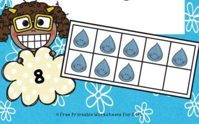 Raindrops Counting Frames