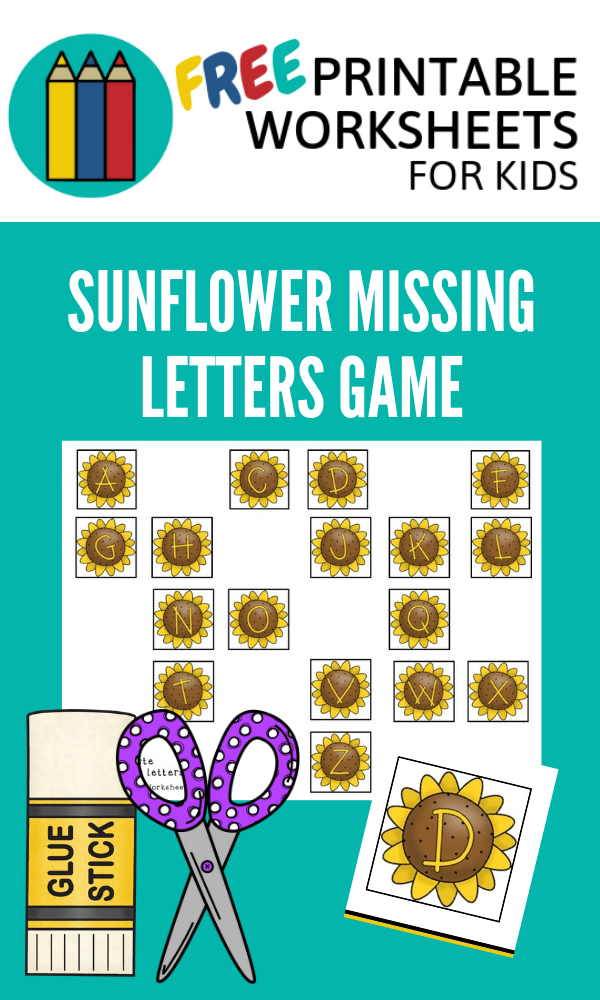 Summer Sunflower Alphabet | Free Printable Worksheets For Kids | This cut and paste activity helps kids move on from learning the ABCs to mastering the alphabetical order.