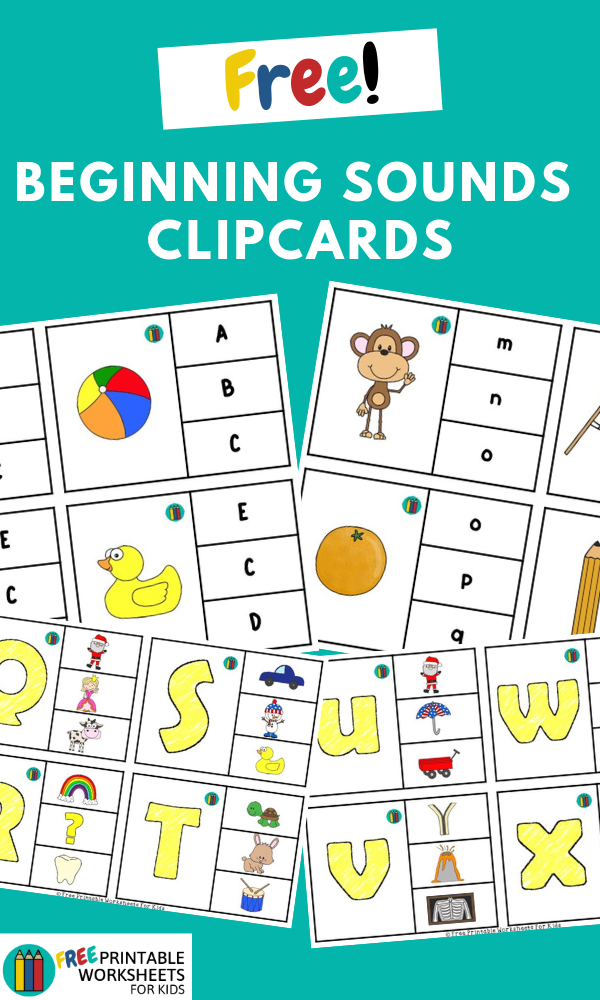 Alphabet Beginning Sounds Clipcards | Free Printable Worksheets For Kids | (*Disclaimer: Some links in this post are affiliate links. I may receive a small commission but this does not increase the price you pay. Thank you for supporting this blog!)