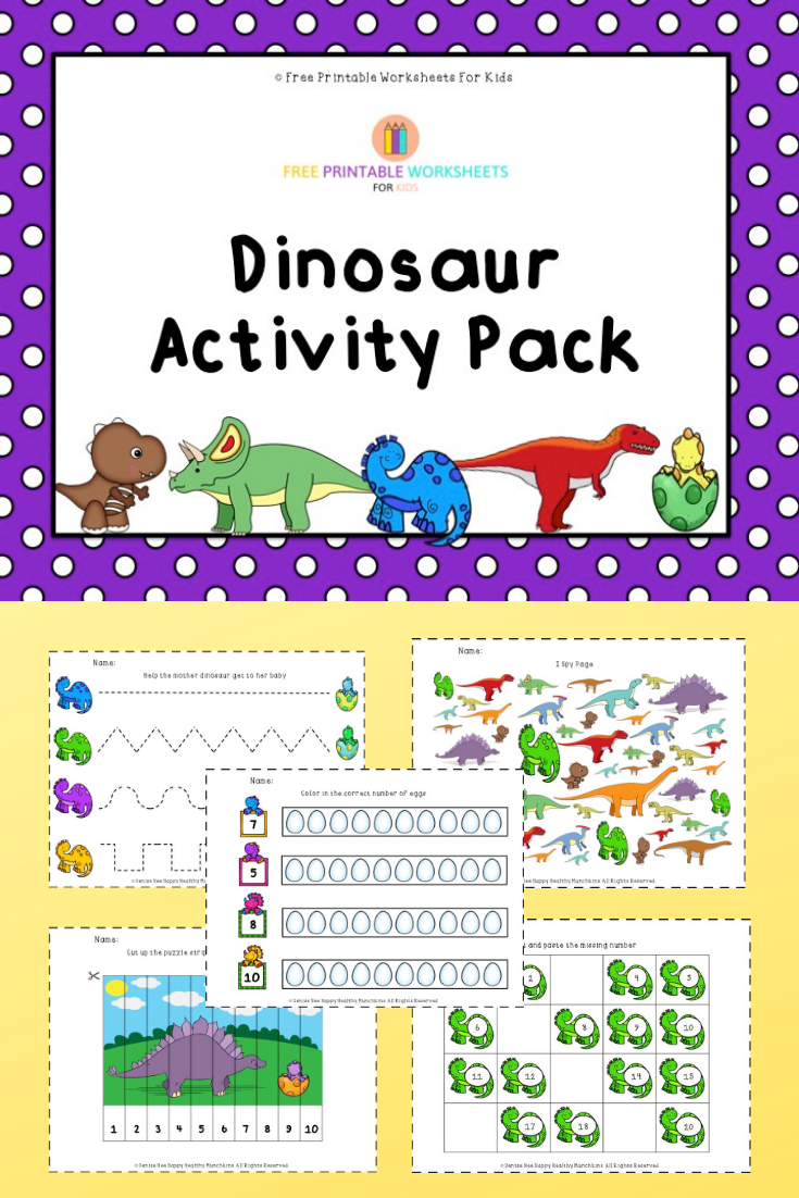 Dino Alphabet Match | Free Printable Worksheets For Kids | Dinosaur-themed independent play activity to match upper and lowercase letters