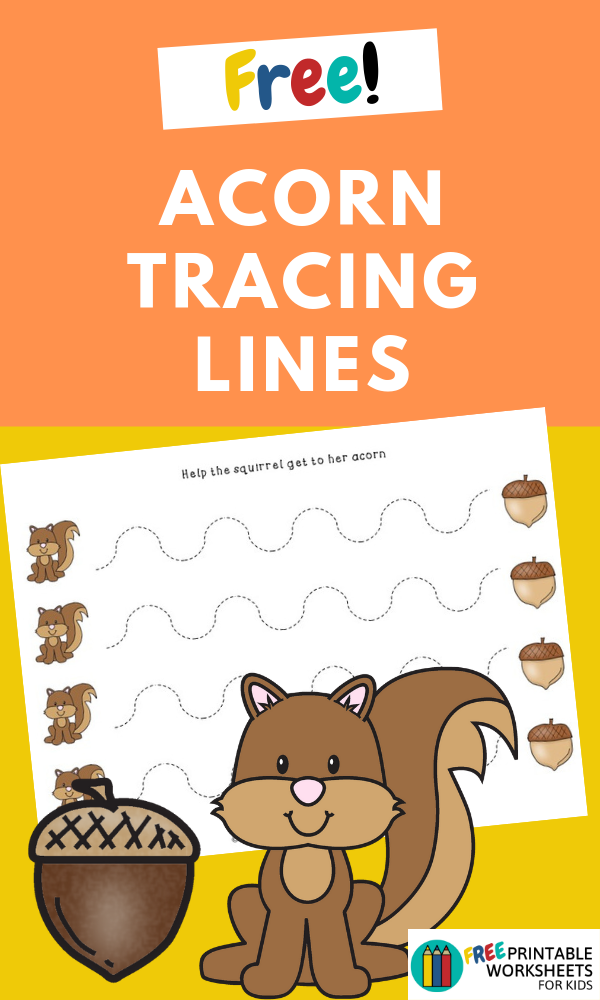 Practice fine motor skills with these 4 different acorn-themed worksheets. Help the squirrel grab the acorn!