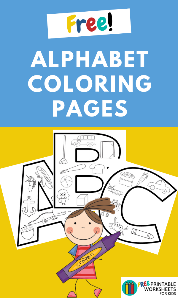 Alphabet Beginning Sound Coloring Pages | Free Printable Worksheets For Kids | 3 sample pages of coloring sheets for objects that start with a specific letter