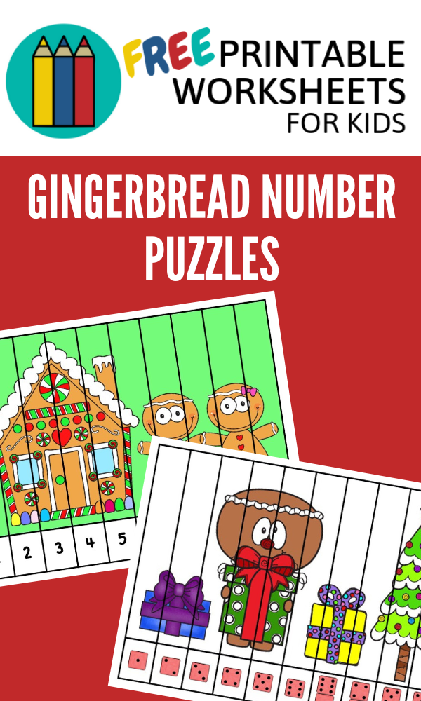 Gingerbread Number Puzzle Strips | Free Printable Worksheets For Kids | (*Disclaimer: Some links in this post are affiliate links. I may receive a small commission but this does not increase the price you pay. Thank you for supporting this blog!)