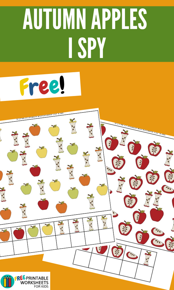 Autumn Apples I Spy | Free Printable Worksheets For Kids | 3 differentiated levels of I Spy games perfect for an apple themed learning unit.