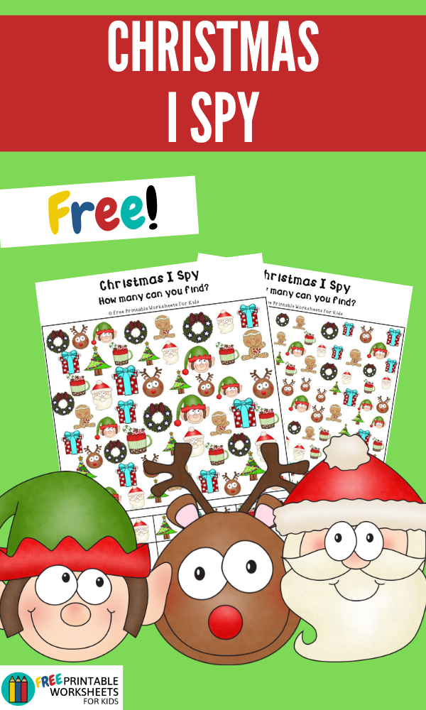 Christmas I Spy | Free Printable Worksheets For Kids | This Christmas-themed I Spy is perfect for keeping little ones busy during the holidays.