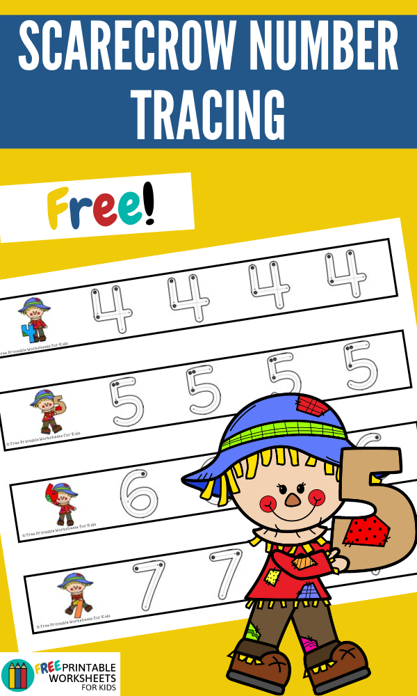 Scarecrow Number Tracing Strips | Free Printable Worksheets For Kids | Combine fine motor practice with early math skills in this scarecrow-themed game to practice writing numbers 1 to 10.