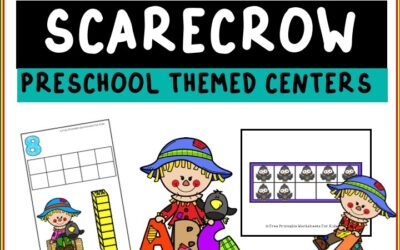 Scarecrow Themed Literacy and Math Centers