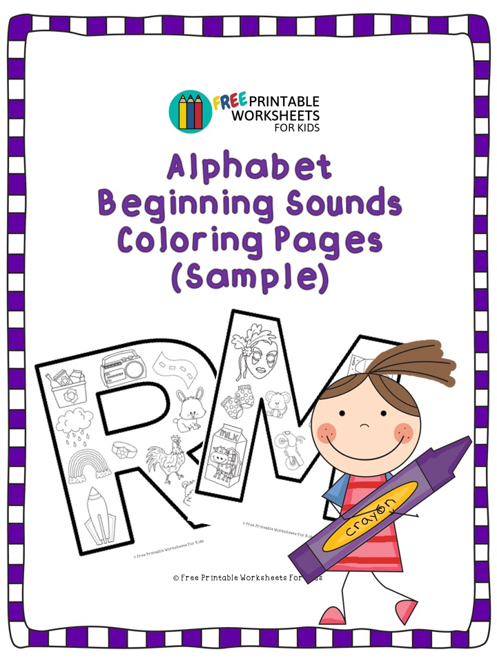 - Alphabet Beginning Sound Coloring Pages Free Printable Worksheets For Kids