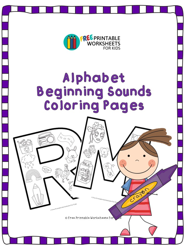 Beginning Sound Coloring Pages (Part 1) by Kinderella's Magic Pencils | 960x720