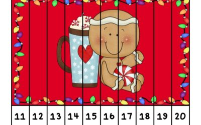 Gingerbread Number Puzzle Strips