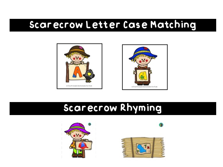 Scarecrow Arrange By Size | Free Printable Worksheets For Kids | Develop early math skills with these 3 scarecrow-themed image sets to arrange from smallest to biggest.