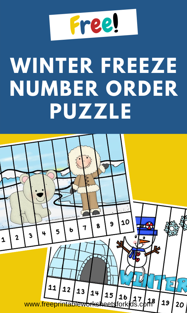 Fun Winter Printables for Preschool and Kindergarten | Winter Themed Math Games | Hands On Math Homeschool Activities | Kids Classroom Center Ideas and Worksheets #FreePrintableWorksheetsForKids winter #kidspuzzle