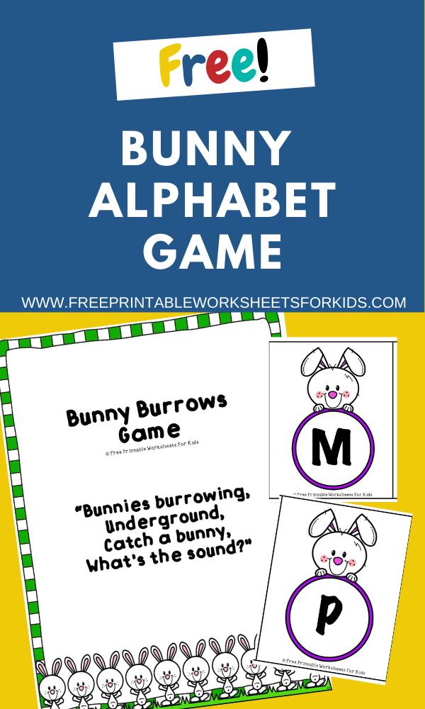Fun Easter Printables for Preschool and Kindergarten   Bunny Themed Alphabet Games   Hands On Literacy Homeschool Activities   Kids Classroom Center Ideas and Worksheets #FreePrintableWorksheetsForKids #easter #Bunny #alphabet