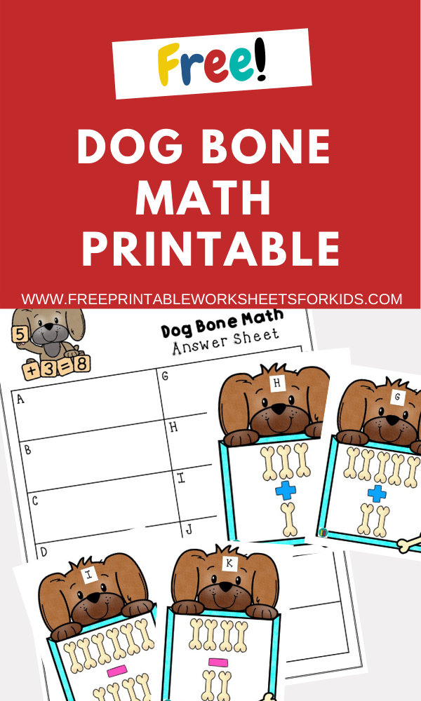 Fun Animal Printables for Preschool and Kindergarten | Animal Themed Math Games | Hands On Math Homeschool Activities | Kids Classroom Center Ideas and Worksheets #FreePrintableWorksheetsForKids #Dog #Puppy #Animals