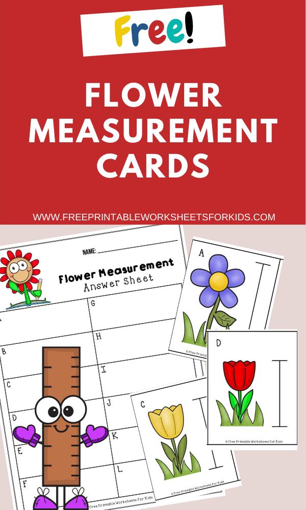 Fun Measurement Printables for Preschool and Kindergarten   Flower Themed Number Games   Hands On Math Homeschool Activities   Kids Classroom Center Ideas and Worksheets #FreePrintableWorksheetsForKids #flower #spring #measurement