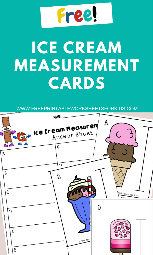 Ice Cream Measurement Cards | Free Printable Worksheets For Kids | (*Disclaimer: Some links in this post are affiliate links. Imay receive a small commission but this does not increase the price you pay.Thank you for supporting this blog!)