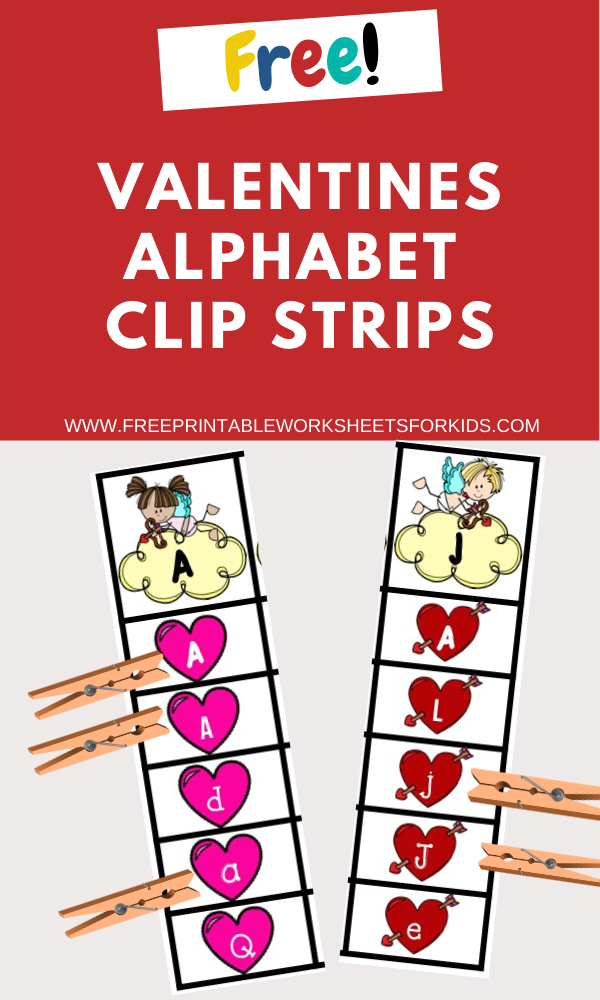 Fun Valentines Printables for Preschool and Kindergarten | Valentines Themed Alphabet Games | Hands On Literacy Homeschool Activities | Kids Classroom Center Ideas and Worksheets #FreePrintableWorksheetsForKids #Valentines #Alphabet