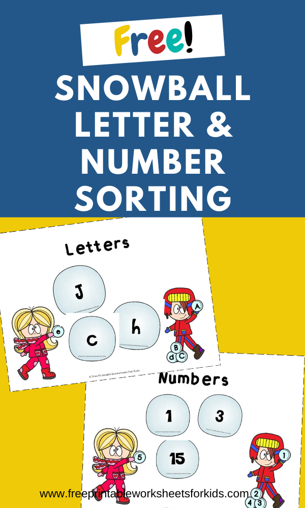 Fun Sorting Printables for Preschool and Kindergarten | Winter Themed Literacy Games | Hands On Alphabet and Number Homeschool Activities | Kids Classroom Center Ideas and Worksheets #FreePrintableWorksheetsForKids #winter #letter #sorting #alphabet