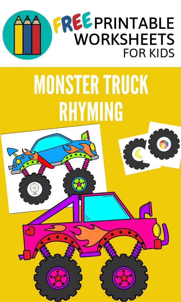 Monster Truck Rhyming Wheels | Free Printable Worksheets For Kids | (*Disclaimer: Some links in this post are affiliate links. I may receive a small commission but this does not increase the price you pay. Thank you for supporting this blog!)