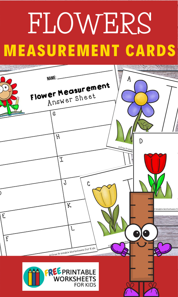 Flower Measurement Cards | Free Printable Worksheets For Kids | (*Disclaimer: Some links in this post are affiliate links. I may receive a small commission but this does not increase the price you pay. Thank you for supporting this blog!)