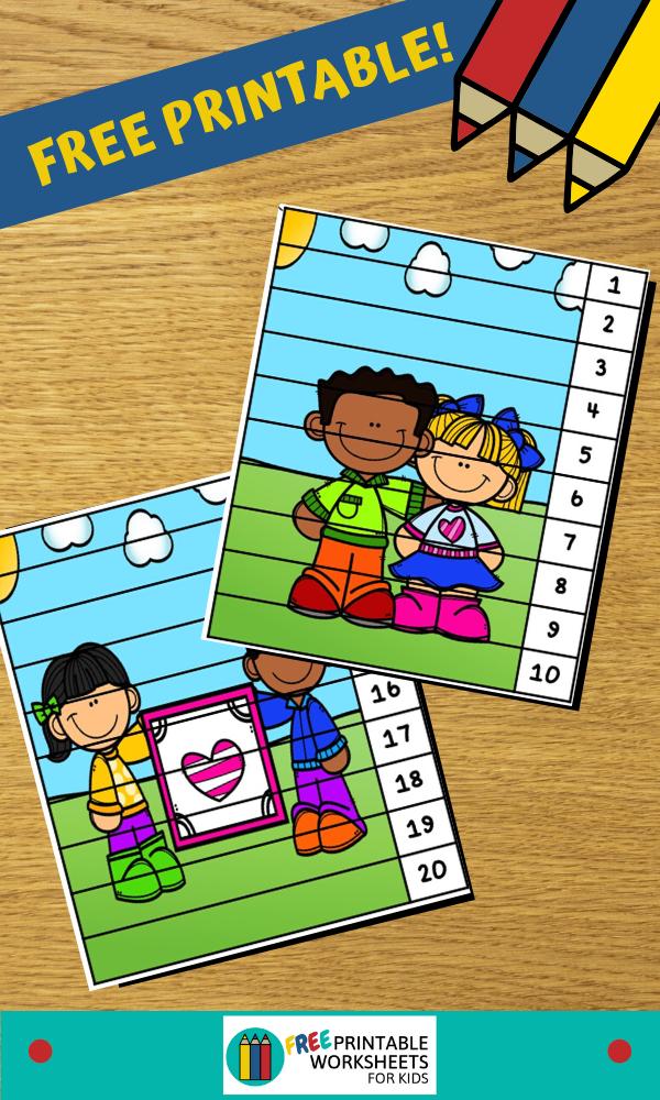 Fun Valentines Printables for Preschool and Kindergarten   Valentines Themed Number Games   Hands On Math Homeschool Activities   Kids Classroom Center Ideas and Worksheets #FreePrintableWorksheetsForKids #Valentines #puzzle