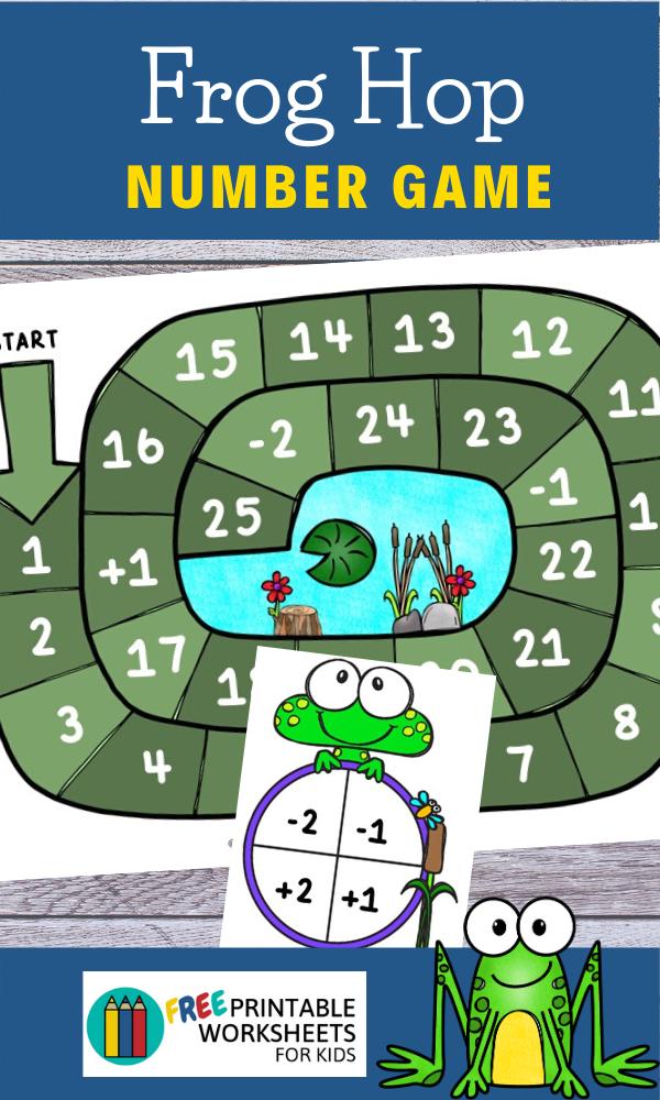 Fun Frog Printables for Preschool and Kindergarten   Spring Themed Number Games   Hands On Math Homeschool Activities   Kids Classroom Center Ideas and Worksheets #FreePrintableWorksheetsForKids #frog #math