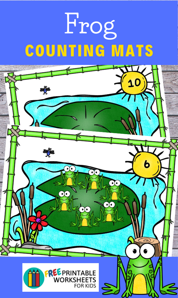 Fun Frog Printables for Preschool and Kindergarten | Spring Themed Math Games | Hands On Counting Homeschool Activities | Kids Classroom Center Ideas and Worksheets #FreePrintableWorksheetsForKids #frog #spring #counting