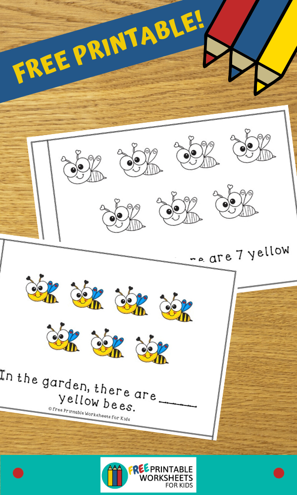 Fun Insect Printables for Preschool and Kindergarten | BugThemed Counting Games | Hands On Math Homeschool Activities | Kids Classroom Center Ideas and Worksheets #FreePrintableWorksheetsForKids #bugs #counting #color