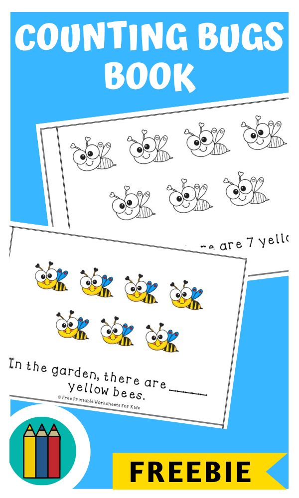 Fun Insect Printables for Preschool and Kindergarten   BugThemed Counting Games   Hands On Math Homeschool Activities   Kids Classroom Center Ideas and Worksheets #FreePrintableWorksheetsForKids #bugs #counting #color