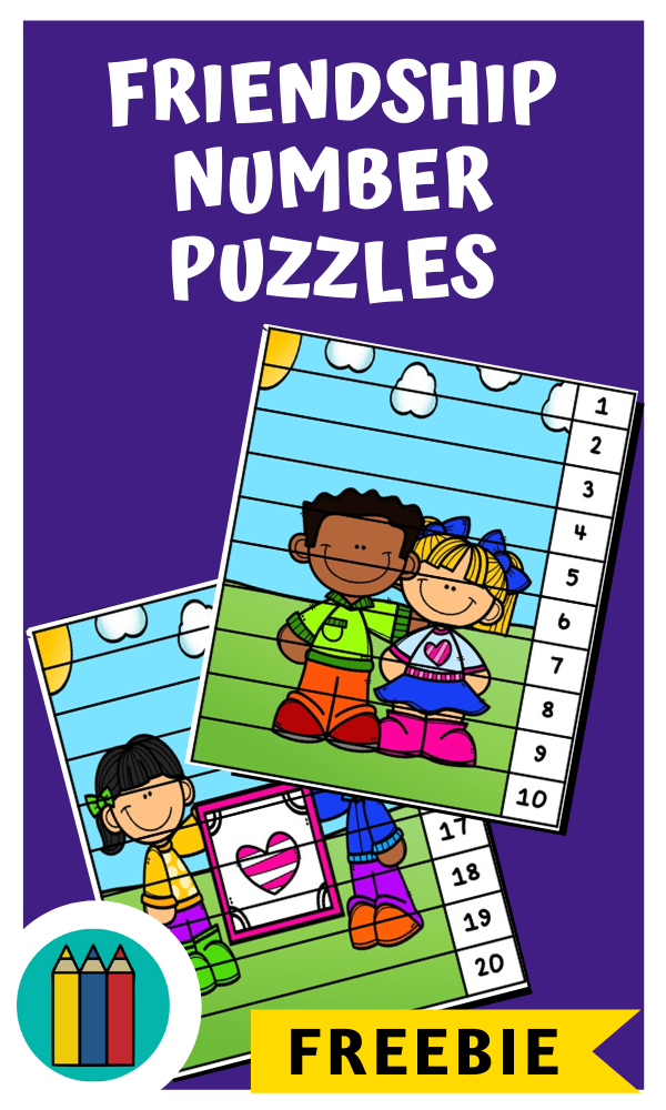 Kindness Number Puzzle Strips | Free Printable Worksheets For Kids | 2 printable puzzles to work on number order, great for Valentines