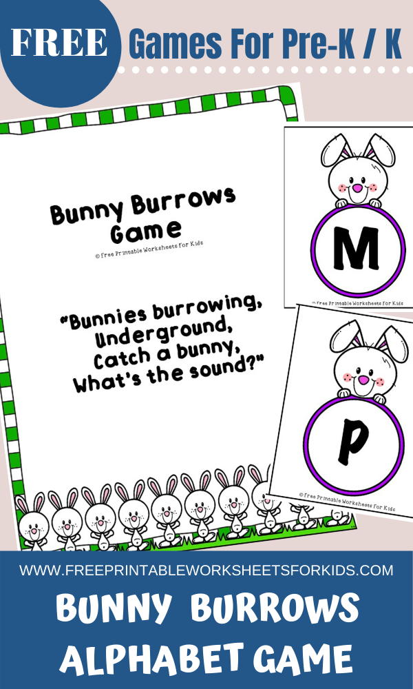 Fun Easter Printables for Preschool and Kindergarten | Bunny Themed Alphabet Games | Hands On Literacy Homeschool Activities | Kids Classroom Center Ideas and Worksheets #FreePrintableWorksheetsForKids #easter #Bunny #alphabet