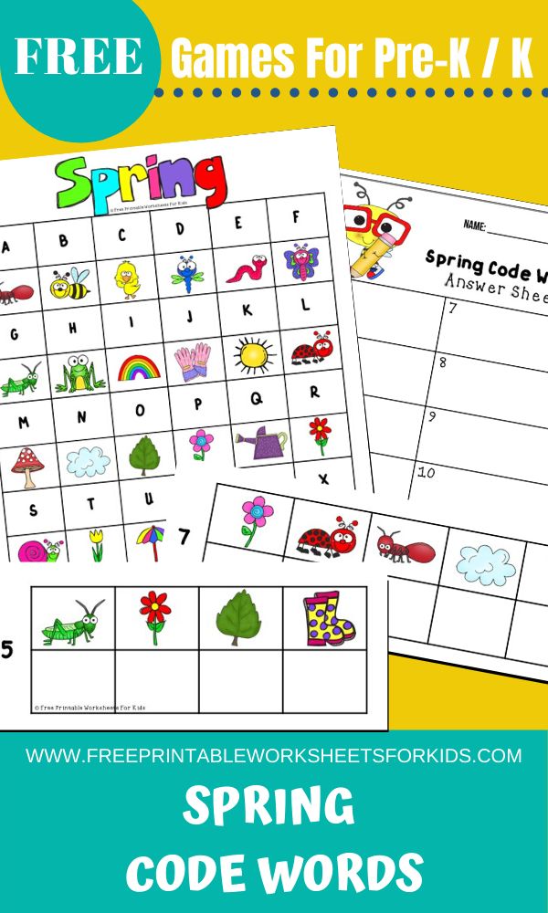 Spring Code Words | Free Printable Worksheets For Kids | Solve the coded puzzle to find out the Spring themed vocabulary words