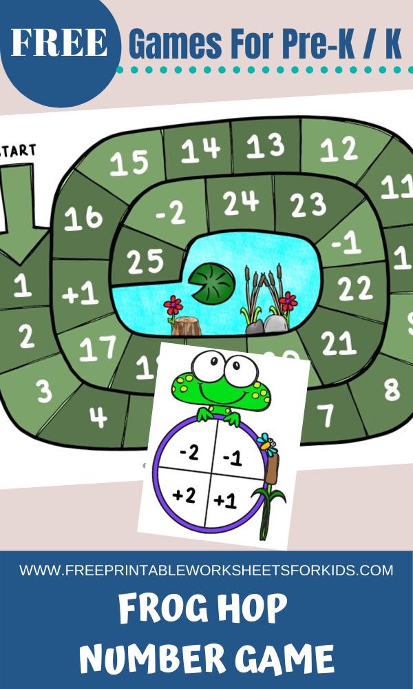 Fun Frog Printables for Preschool and Kindergarten | Spring Themed Number Games | Hands On Math Homeschool Activities | Kids Classroom Center Ideas and Worksheets #FreePrintableWorksheetsForKids #frog #math