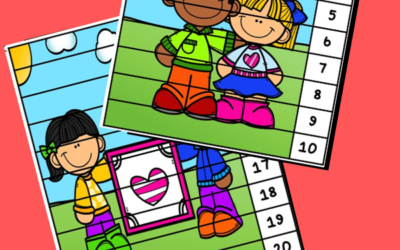 Kindness Number Puzzle Strips
