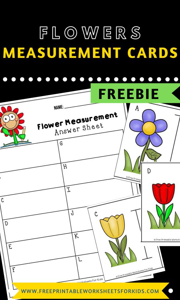 Fun Measurement Printables for Preschool and Kindergarten | Flower Themed Number Games | Hands On Math Homeschool Activities | Kids Classroom Center Ideas and Worksheets #FreePrintableWorksheetsForKids #flower #spring #measurement