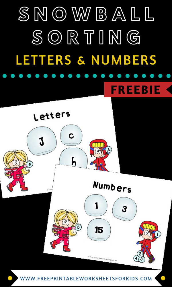 Snowball Sorting | Free Printable Worksheets For Kids | (*Disclaimer: Some links in this post are affiliate links. I may receive a small commission but this does not increase the price you pay. Thank you for supporting this blog!)