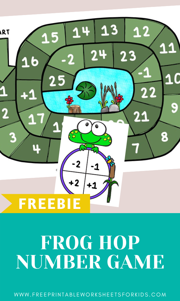 Frog Number Hop Game | Free Printable Worksheets For Kids | (*Disclaimer: Some links in this post are affiliate links. I may receive a small commission but this does not increase the price you pay. Thank you for supporting this blog!)