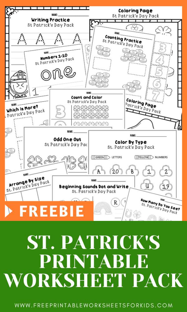 Fun Leprechaun Printables for Preschool and Kindergarten | March St Patricks Day Themed Games | Hands On Homeschool Activities | Kids Classroom Center Ideas and Worksheets #FreePrintableWorksheetsForKids #StPatricksDay #Leprechaun #March
