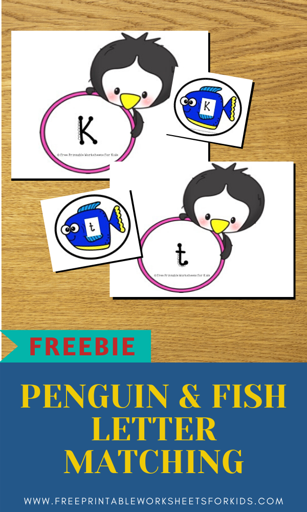 Fun Penguin Printables for Preschool and Kindergarten | Winter Themed Alphabet Games | Hands On Literacy Homeschool Activities | Kids Classroom Center Ideas and Worksheets #FreePrintableWorksheetsForKids #letter #matching #alphabet #penguin