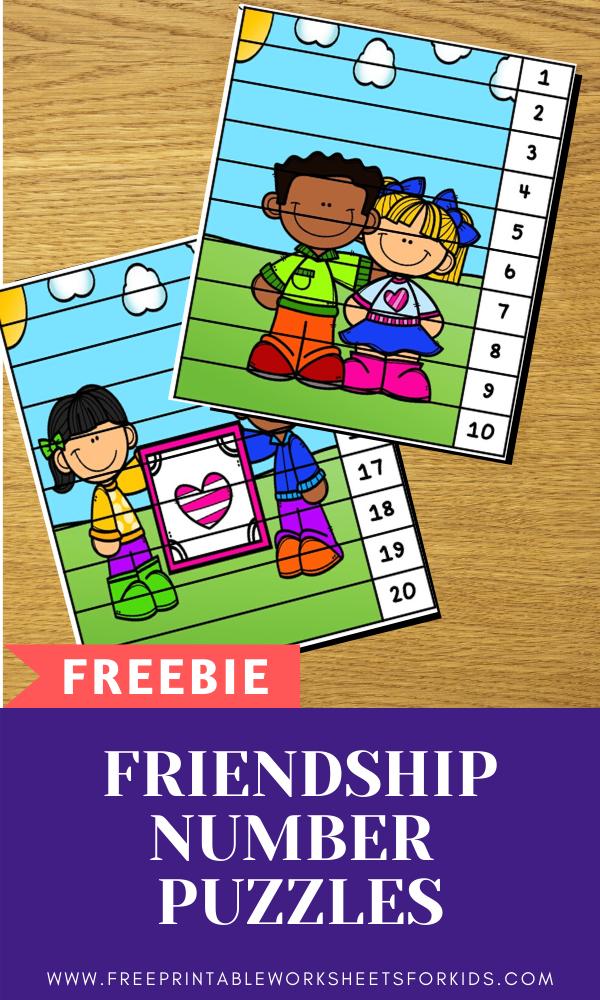 Fun Valentines Printables for Preschool and Kindergarten | Valentines Themed Number Games | Hands On Math Homeschool Activities | Kids Classroom Center Ideas and Worksheets #FreePrintableWorksheetsForKids #Valentines #puzzle