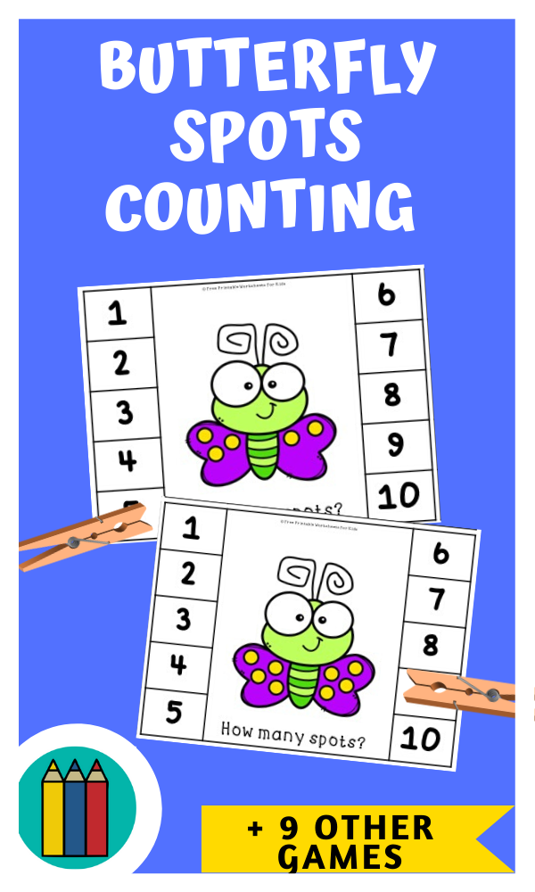Fun Bugs and Butterflies Printables for Preschool and Kindergarten | 10 Literacy and Math Spring Themed Games | Alphabet Numbers and Fine Motor Hands On Homeschool Activities | Kids Classroom Center Ideas #FreePrintableWorksheetsForKids #Bugs #Butterfly #Spring