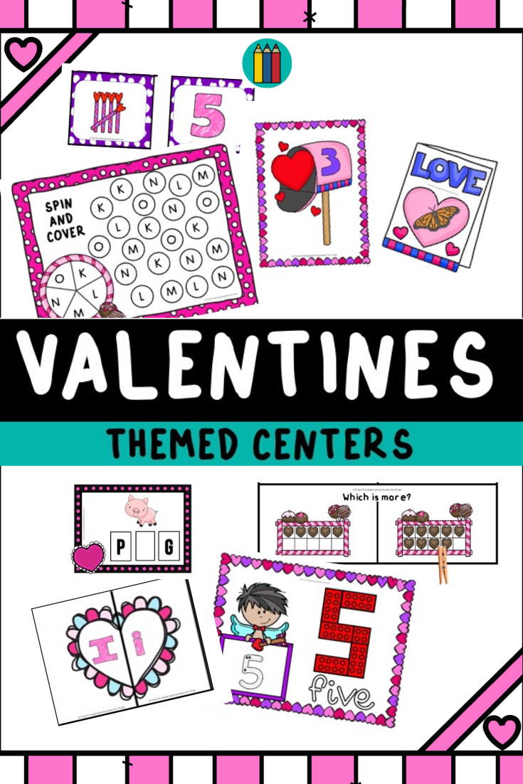 Valentines Alphabet Clip Strips | Free Printable Worksheets For Kids | Combine letter recognition and fine motor practice in this fun Valentines themed activity.