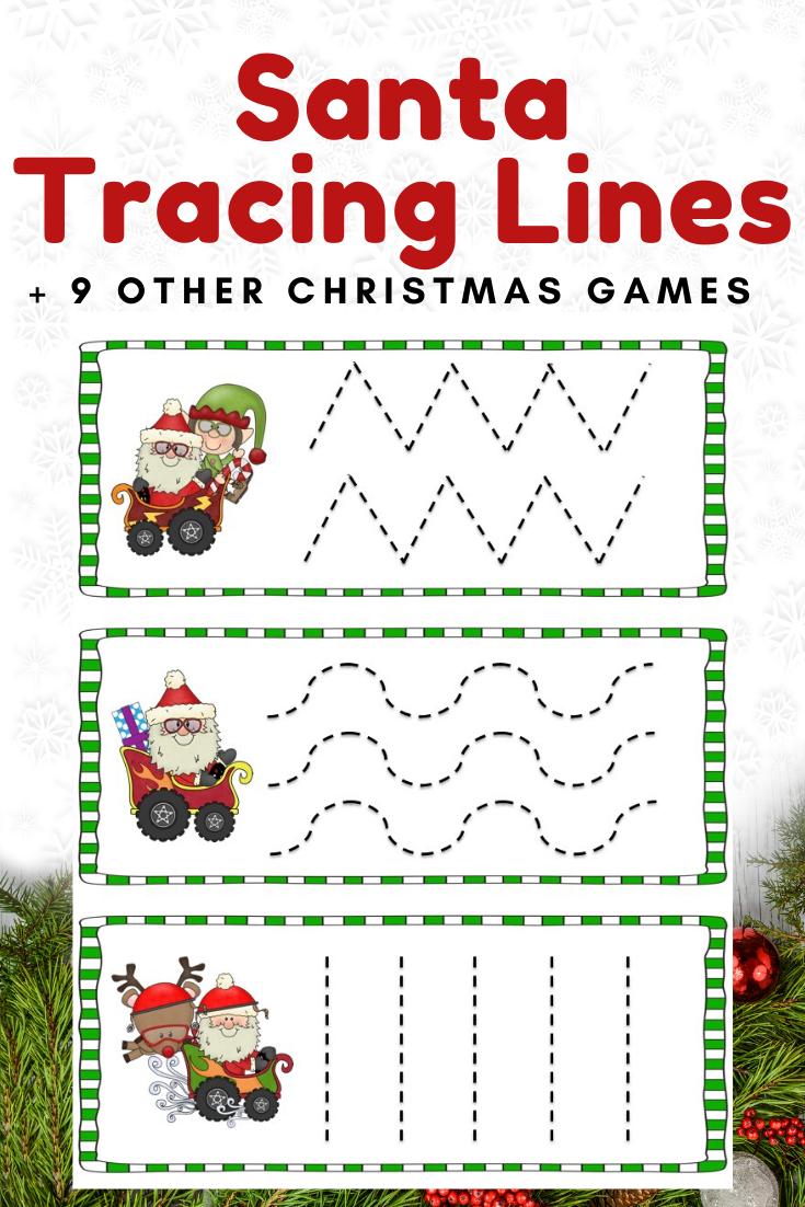 Fun Christmas Printables for Preschool and Kindergarten   10 Literacy and Math Christmas Themed Games   Alphabet Numbers and Fine Motor Hands On Homeschool Activities   Kids Classroom Center Ideas #FreePrintableWorksheetsForKids #Christmas #Santa