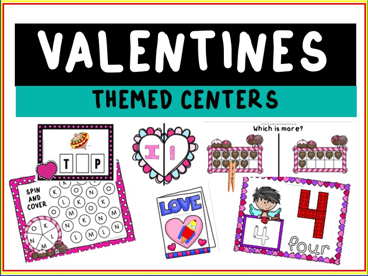 Fun Valentines Printables for Preschool and Kindergarten | 10 Literacy and Math Valentines Themed Games | Alphabet Numbers and Fine Motor Hands On Homeschool Activities | Kids Classroom Center Ideas #FreePrintableWorksheetsForKids #Valentines #Love #Heart