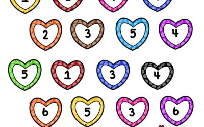 Roll and Cover Number Hearts
