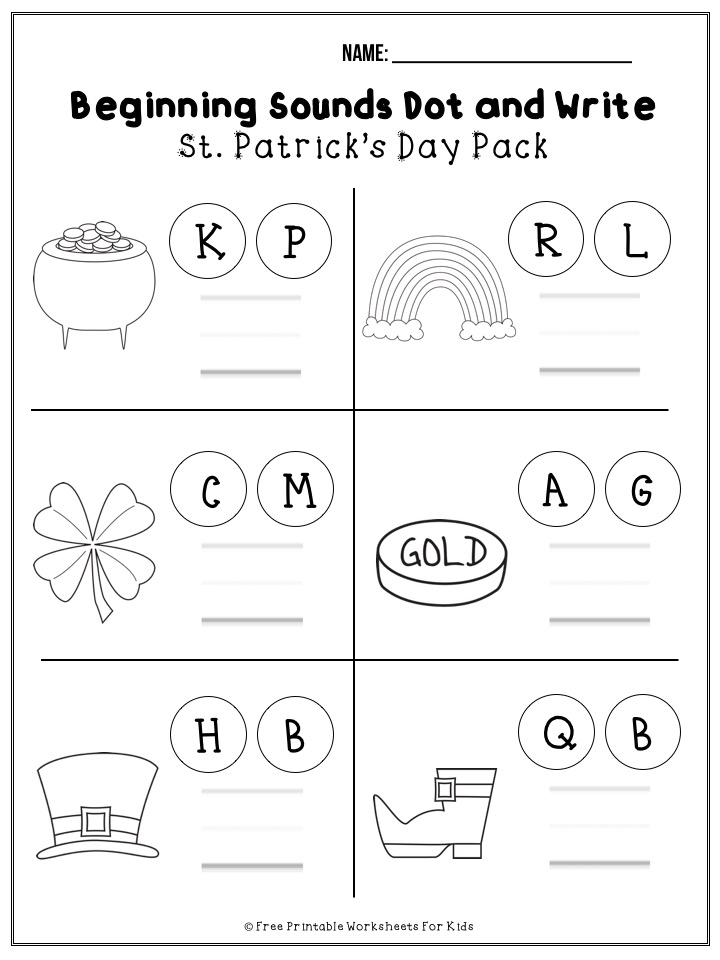 March St Patrick's Day Printable Worksheet Pack Free Printable Worksheets  For Kids